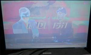 écran blanc TV